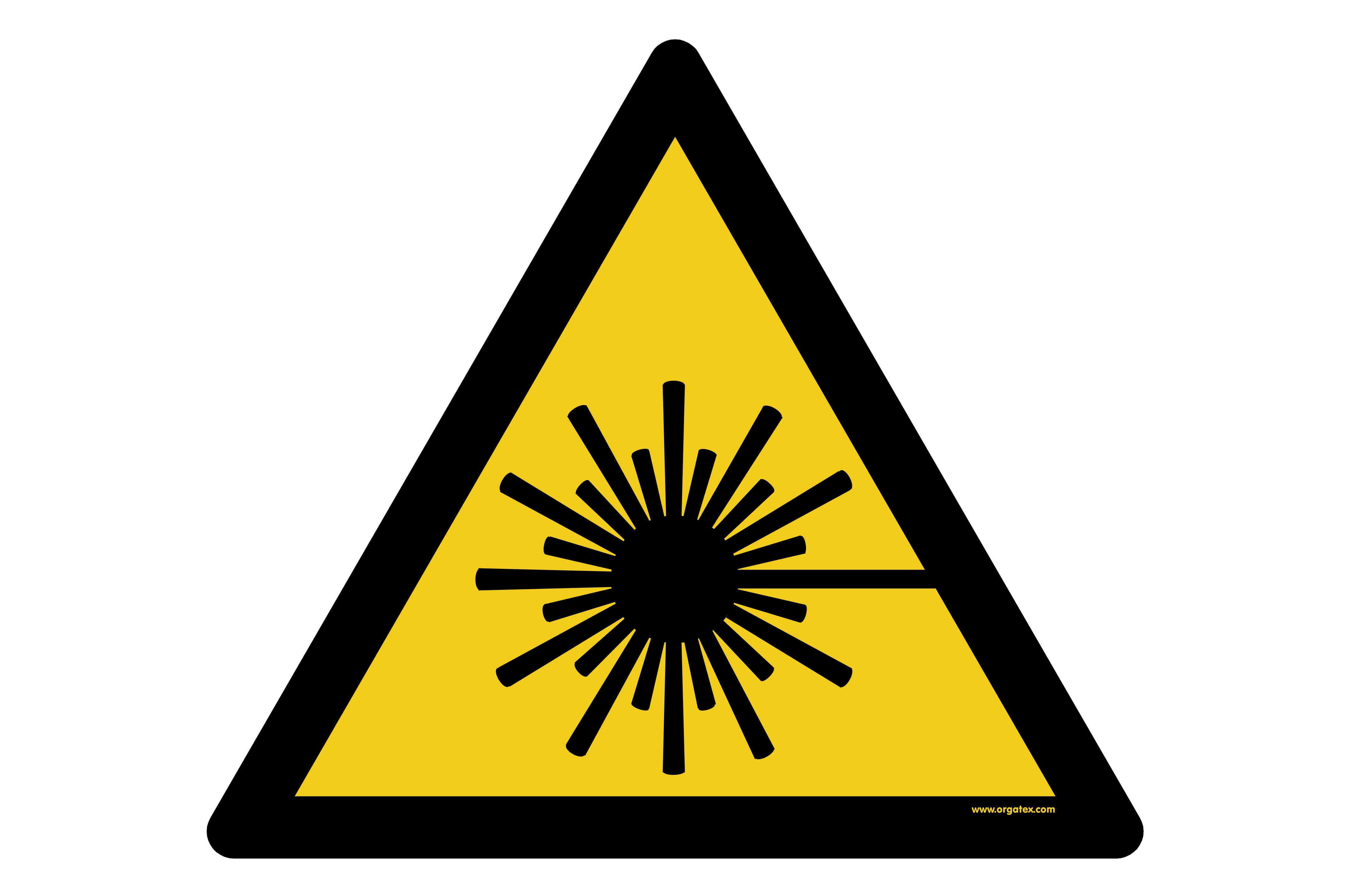 """Floor symbol """"Warning of laser beam"""""""