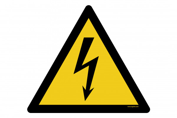 "Floor symbol ""Warning of electrical voltage"""