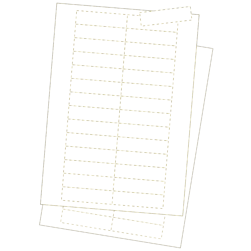 Kartoneinlagen, weiss 25 x 100 mm