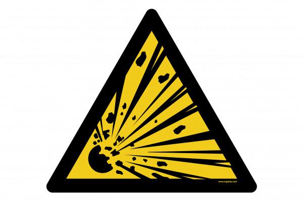 """Bodenkennzeichnungsschild """"Warnung vor explosionsgefährlichen Stoffen"""""""