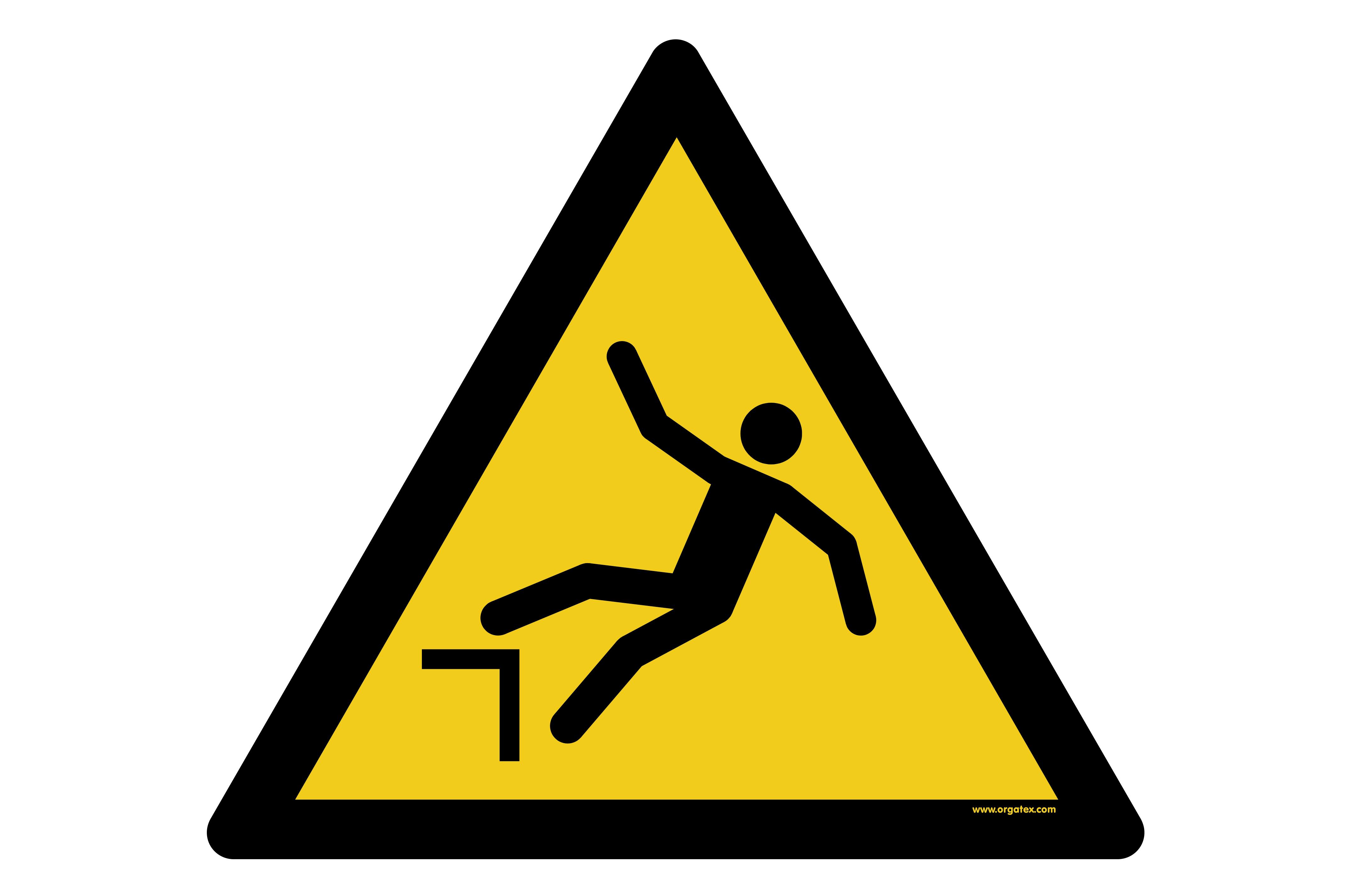 "Floor symbol ""Warning of danger of falling"""