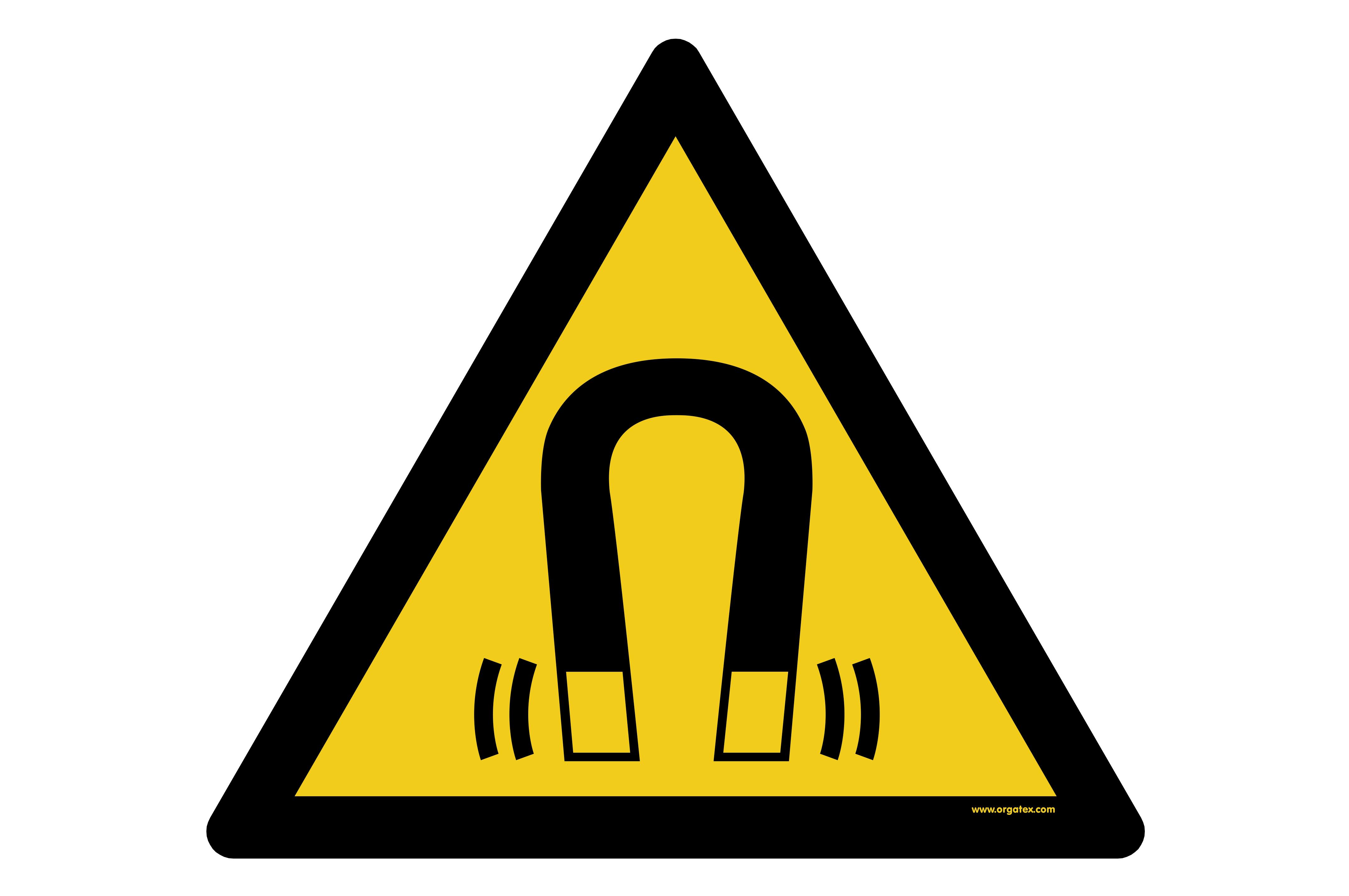 "Floor symbol ""Warning of magnetic field"""