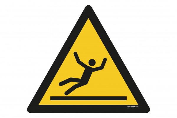 """Bodenkennzeichnungsschild """"Warnung Rutschgefahr"""""""
