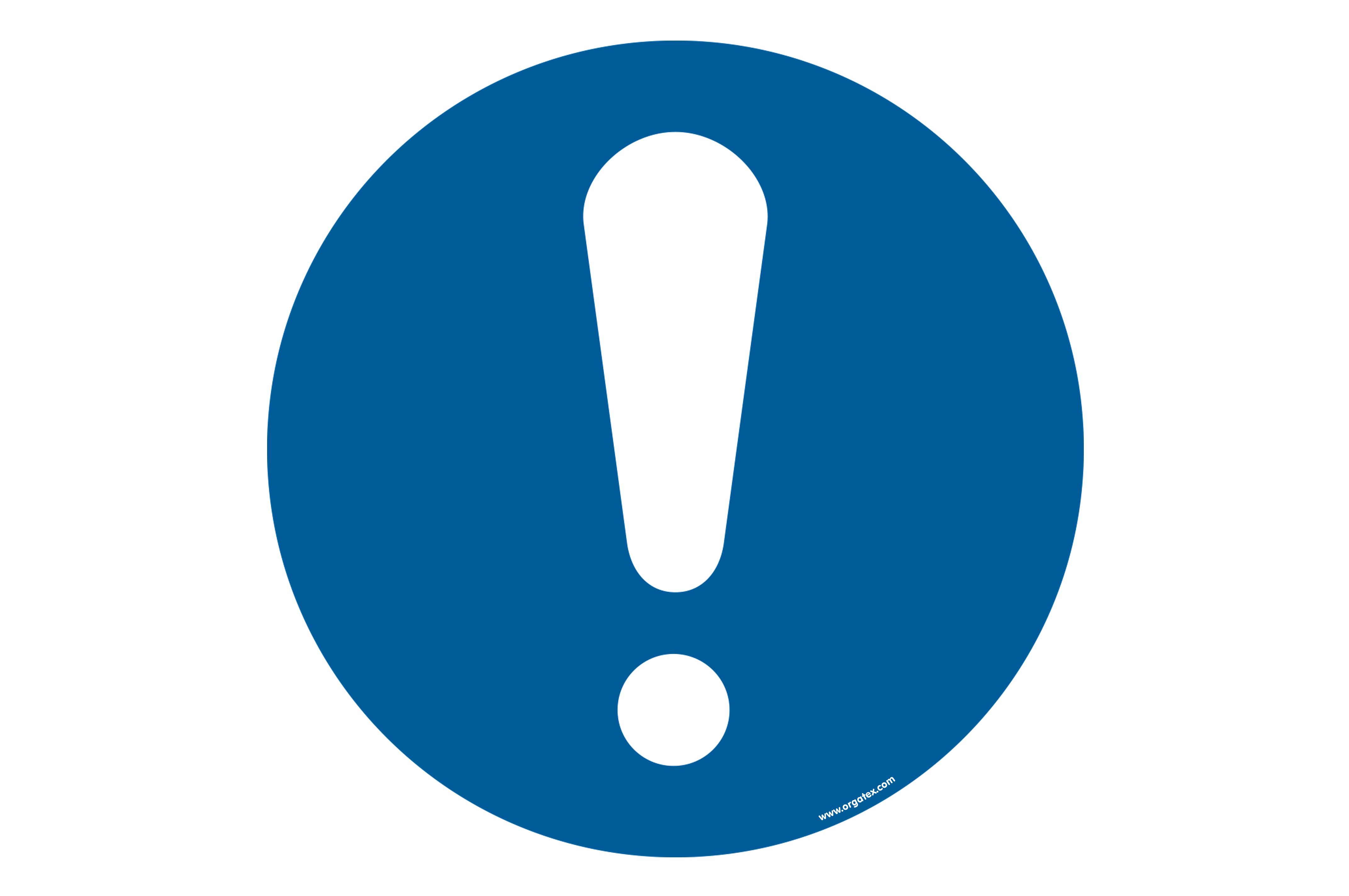 """Floor symbol """"General mandatory sign"""""""