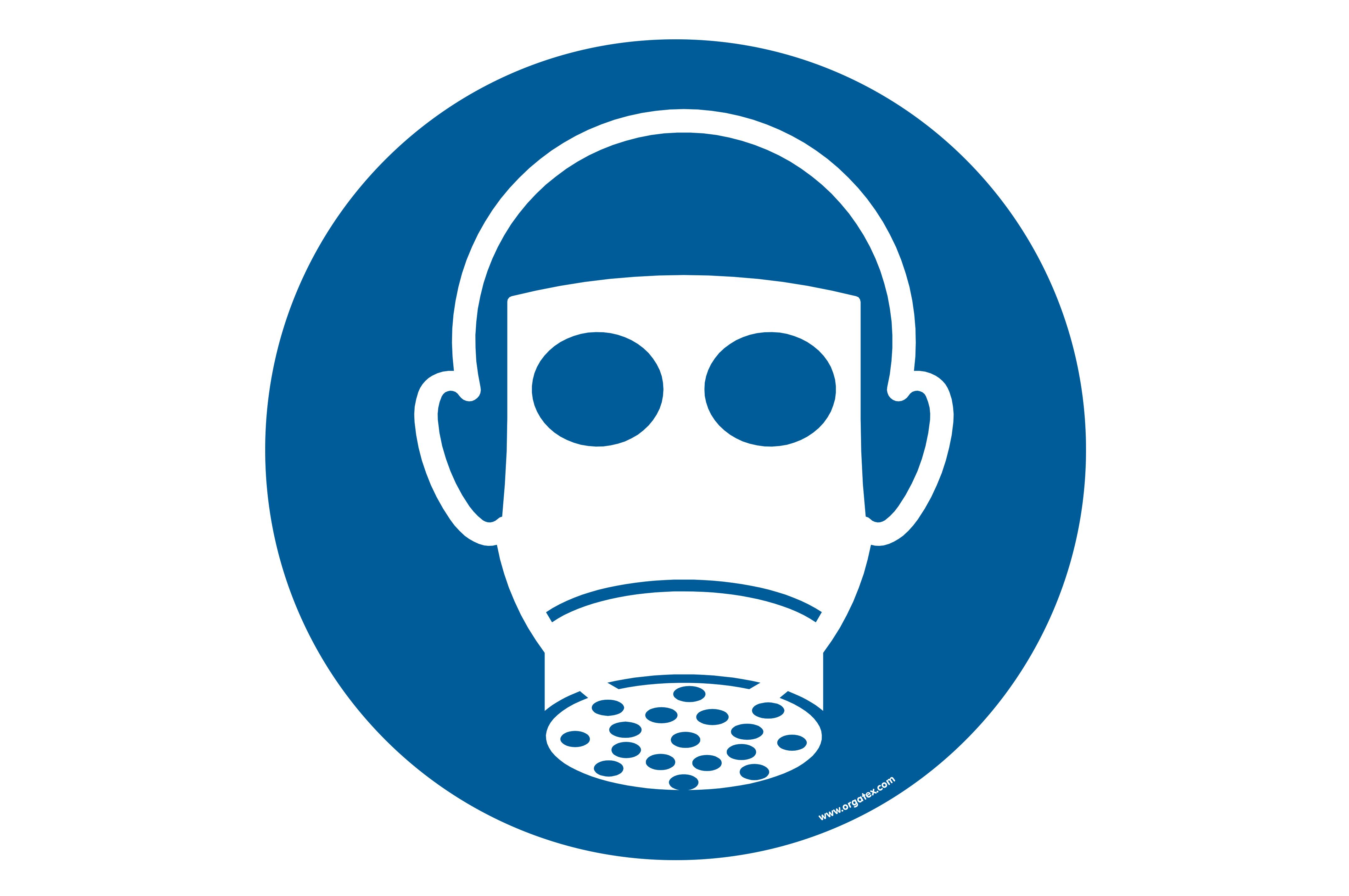"Floor symbol ""Use respiratory protection"""