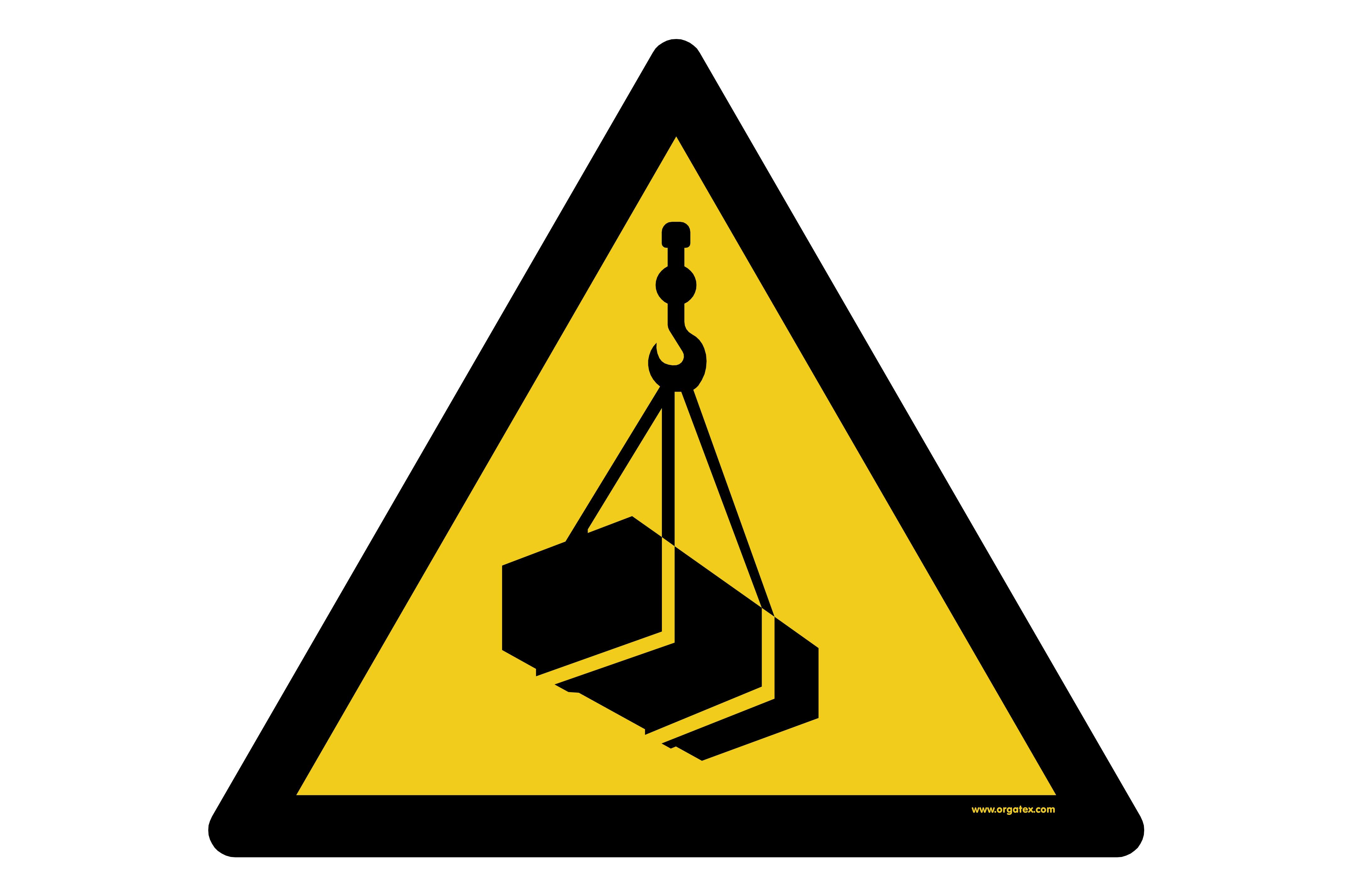 "Floor symbol ""Warning of suspended loads"""