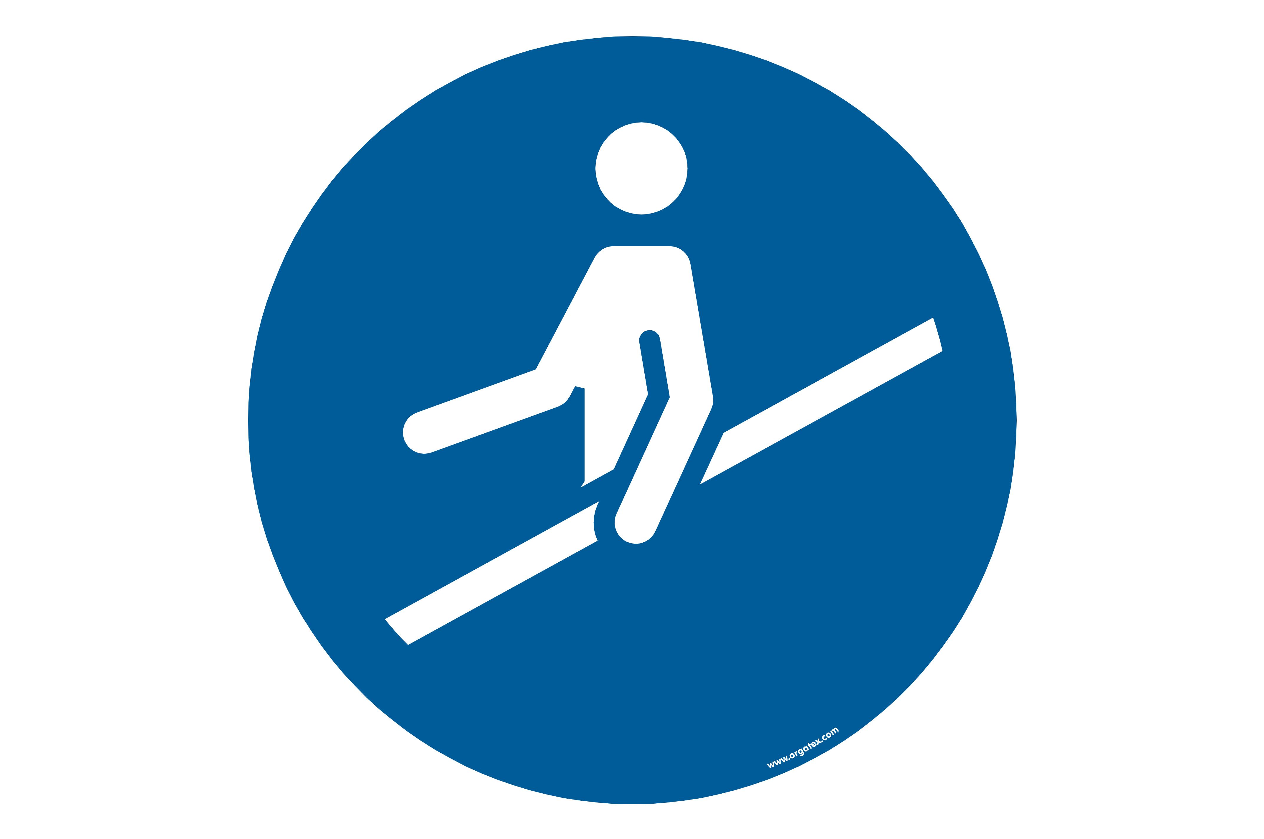 "Floor symbol ""Use handrail"""