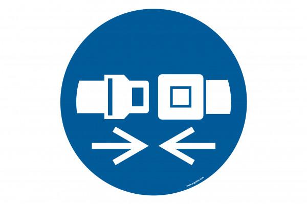 "Floor symbol ""Wear safety belts"""