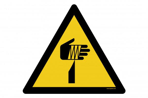 """Bodenkennzeichnungsschild """"Warnung vor Spitzer Gegenstand"""""""