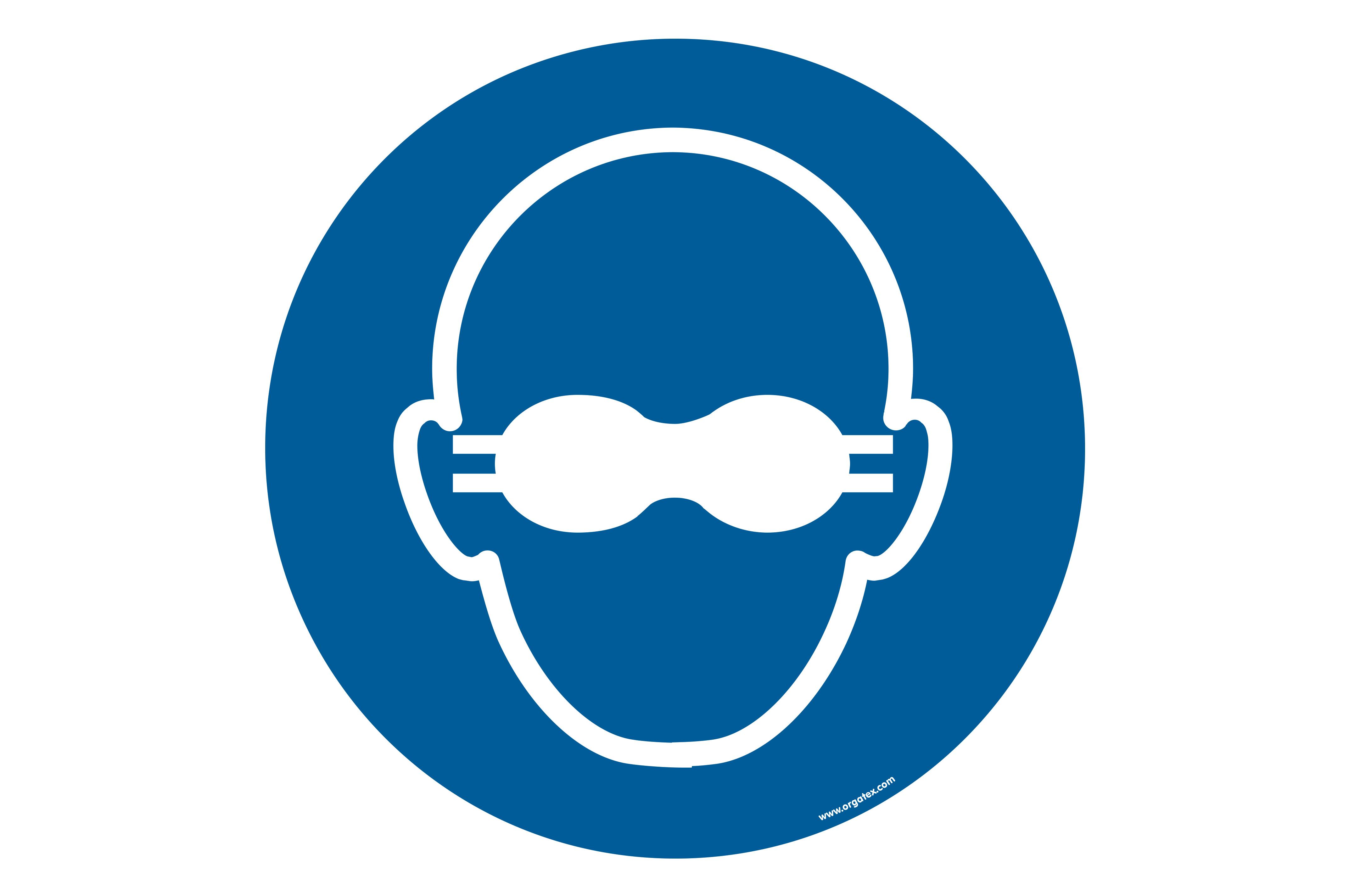 "Floor symbol ""Opaque eye protection must be worn"""