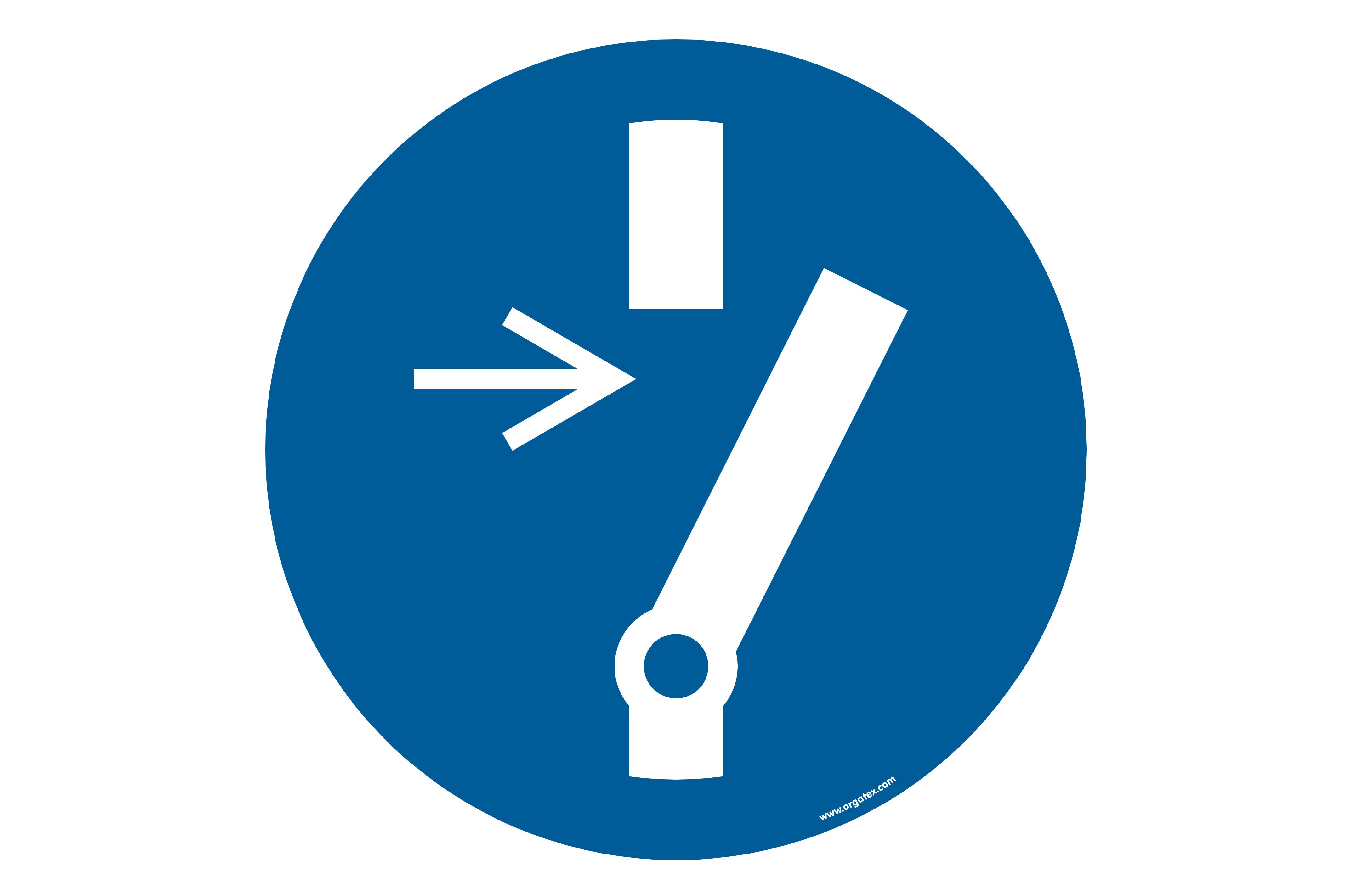 """Floor symbol """"Before maintenance or repair unlock"""""""