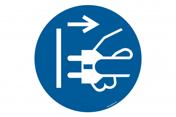 "Floor symbol ""Disconnect mains plug from electrical outlet"""