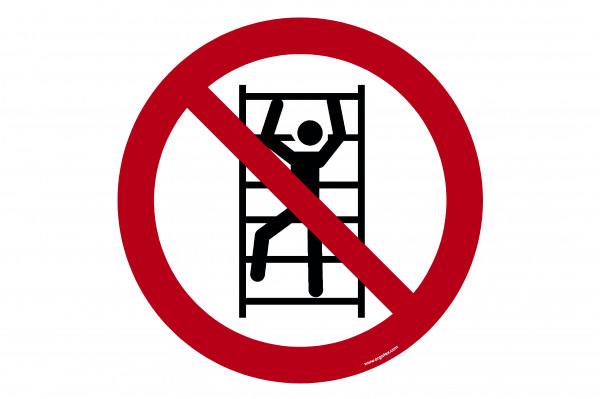 "Floor symbol ""Do not climb"""