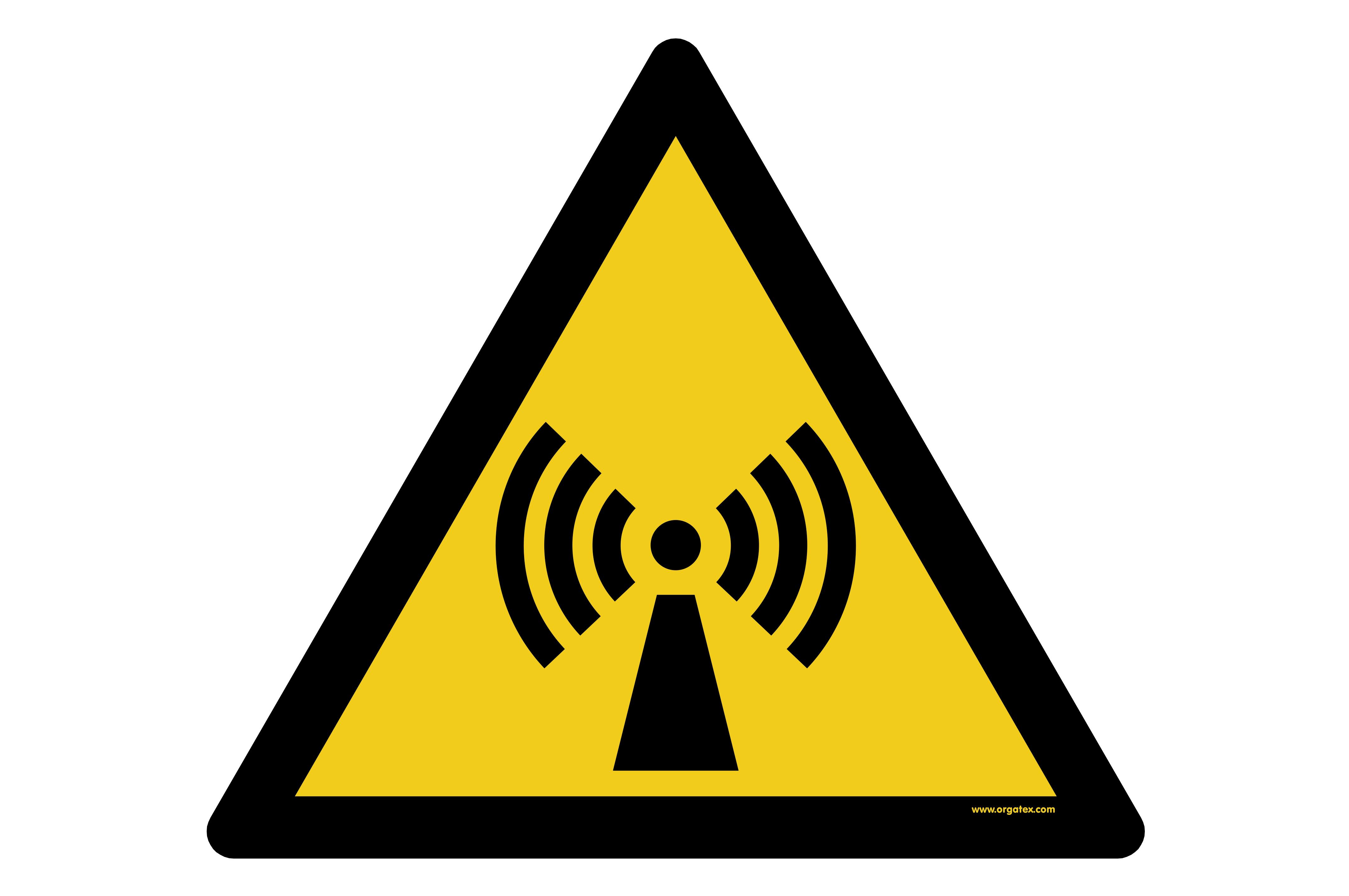 """Floor symbol """"Warning of non-ionizing radiation"""""""