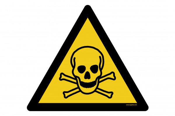 """Bodenkennzeichnungsschild """"Warnung vor giftigen Stoffen"""""""