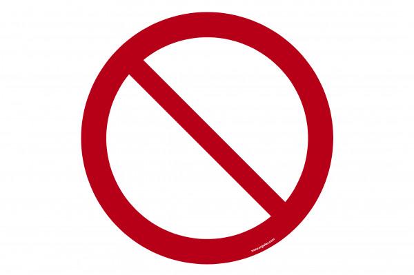 """Señal para pisos """"Prohibición general"""""""
