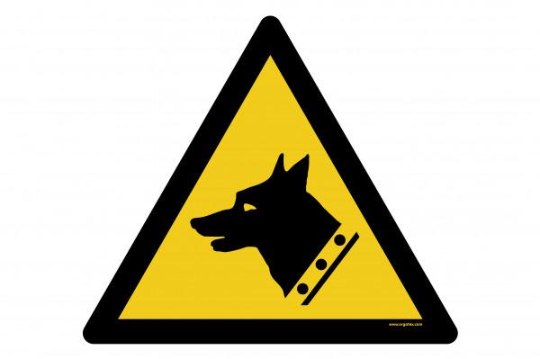 """Floor symbol """"Warning: Guard dog"""""""