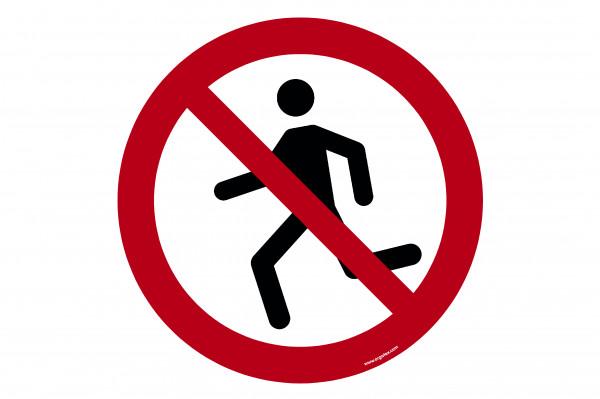 """Señal para pisos """"Prohibido correr"""""""