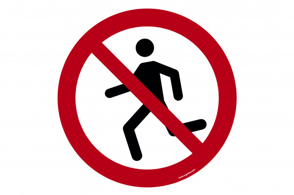 "Floor symbol ""Running prohibited"""