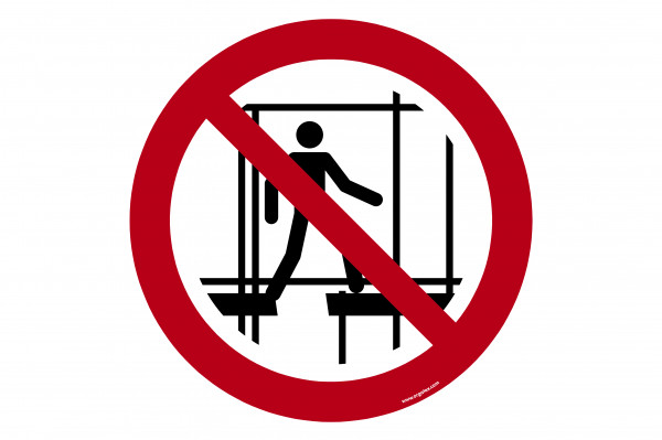 """Floor symbol """"Do not use this incomplete scaffold"""""""