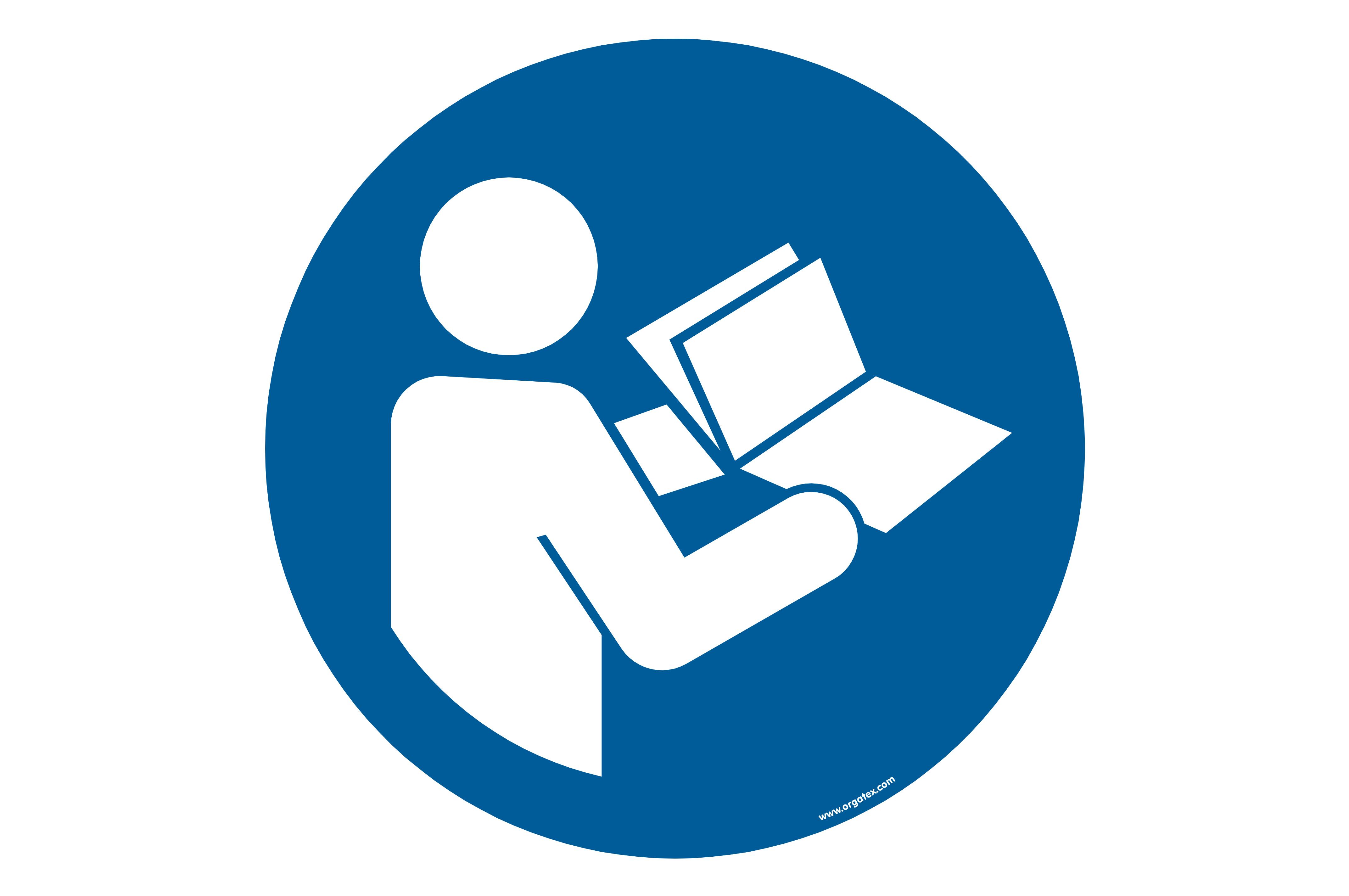 "Floor symbol ""Refer to instruction manual - booklet"""