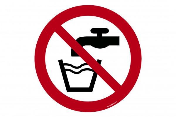 "Floor symbol ""No drinking water"""