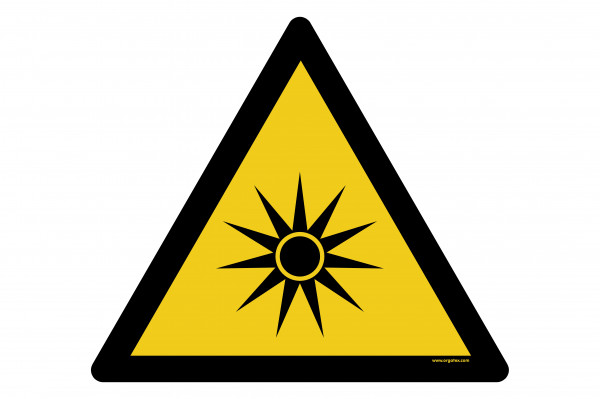 "Floor symbol ""Warning of optical radiation"""