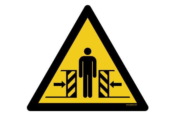 "Floor symbol ""Warning of crushing hazard"""