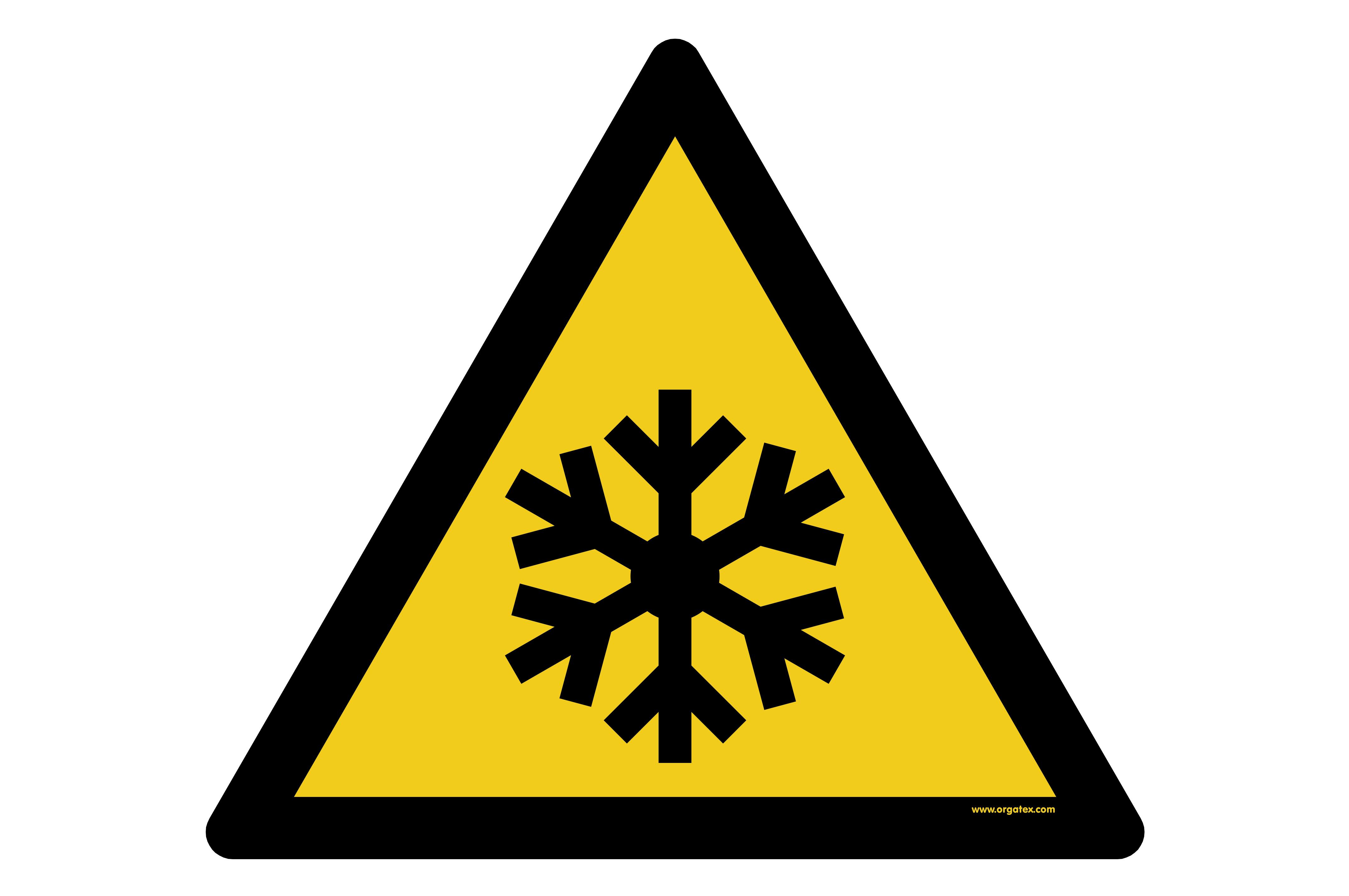 "Floor symbol ""Warning of low temperature - frost"""