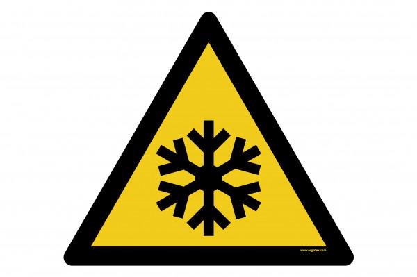"""Señal para pisos """"Advertencia de baja temperatura - heladas"""""""