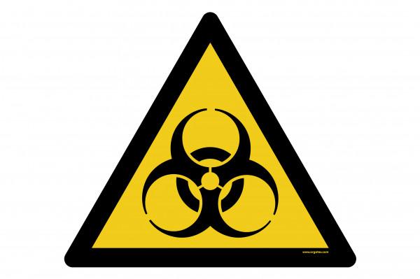 """Señal para pisos """"Advertencia de riesgo biológico"""""""