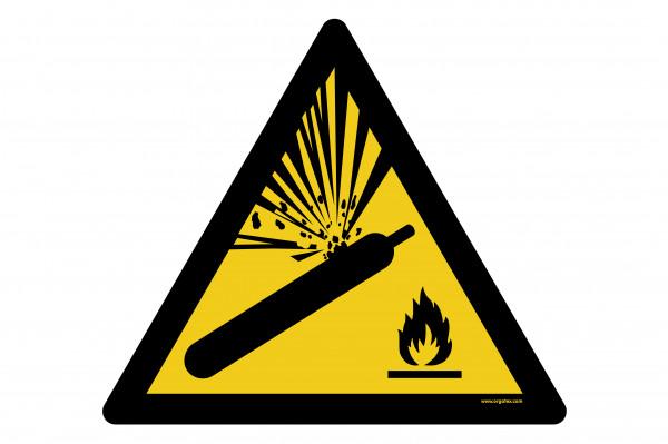 """Bodenkennzeichnungsschild """"Warnung vor Gasflaschen"""""""