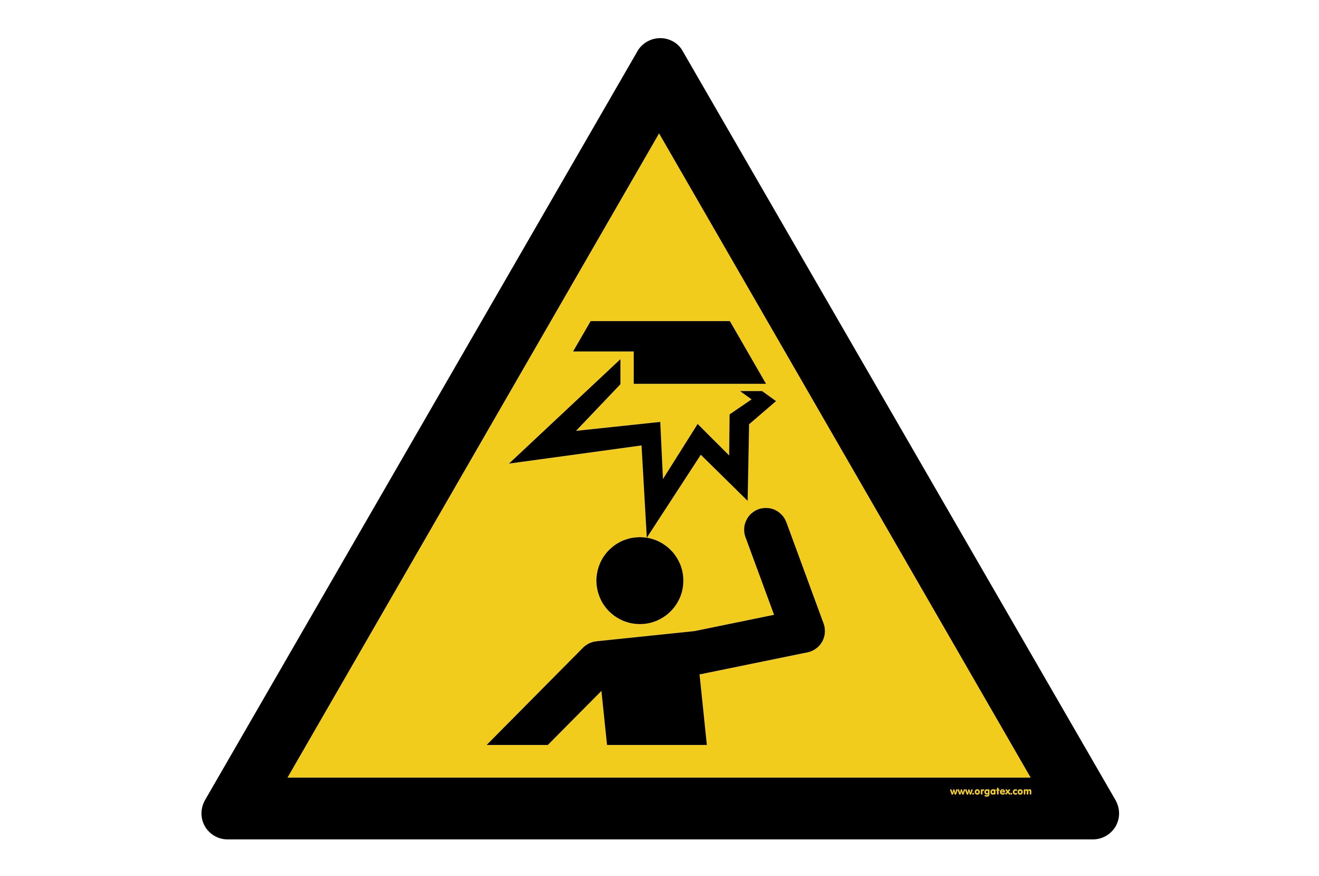 """Floor symbol """"Warning: overhead obstacle"""""""