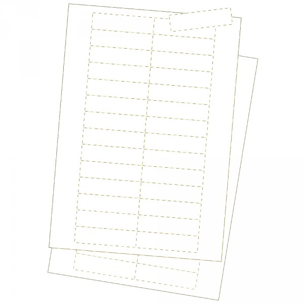 Kartoneinlagen, weiss 25 x 150 mm
