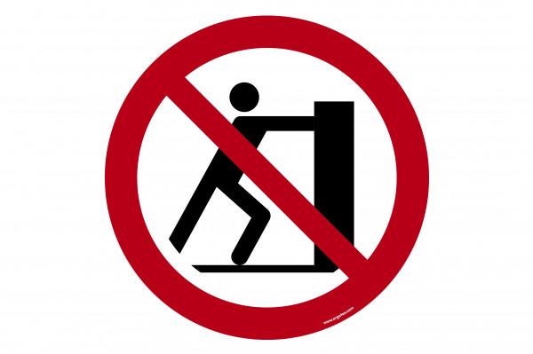 """Floor symbol """"No pushing"""""""
