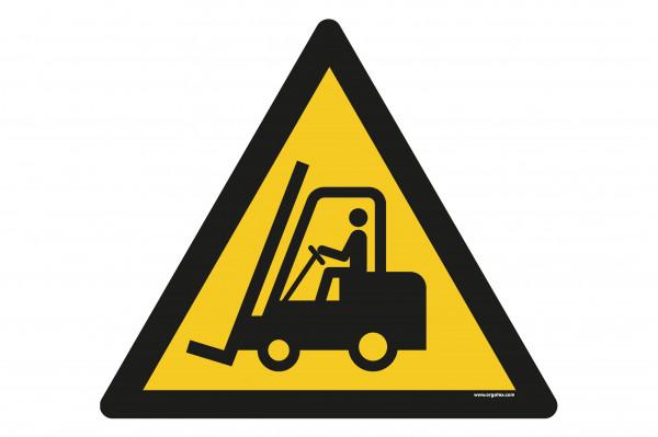 """Bodenkennzeichnungsschild """"Warnung vor Flurförderfahrzeugen"""""""