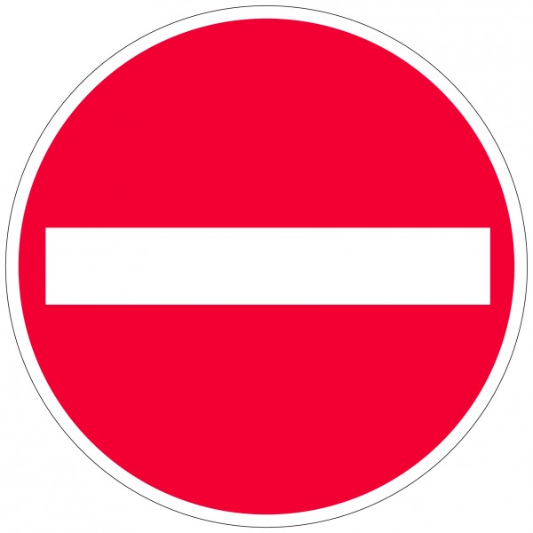 """Bodenkennzeichnungsschild   """"Verbot der Einfahrt"""""""