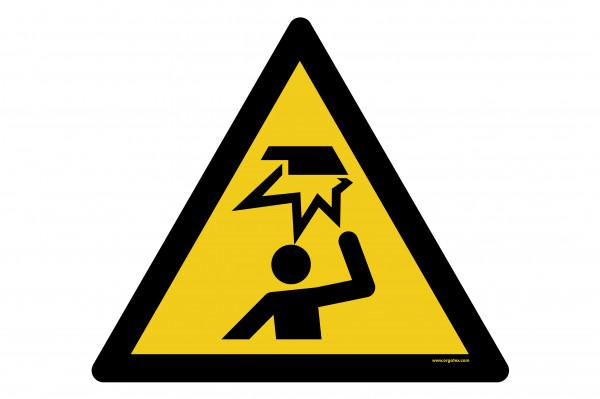 """Bodenkennzeichnungsschild """"Warnung vor Stoßverletzungen"""""""