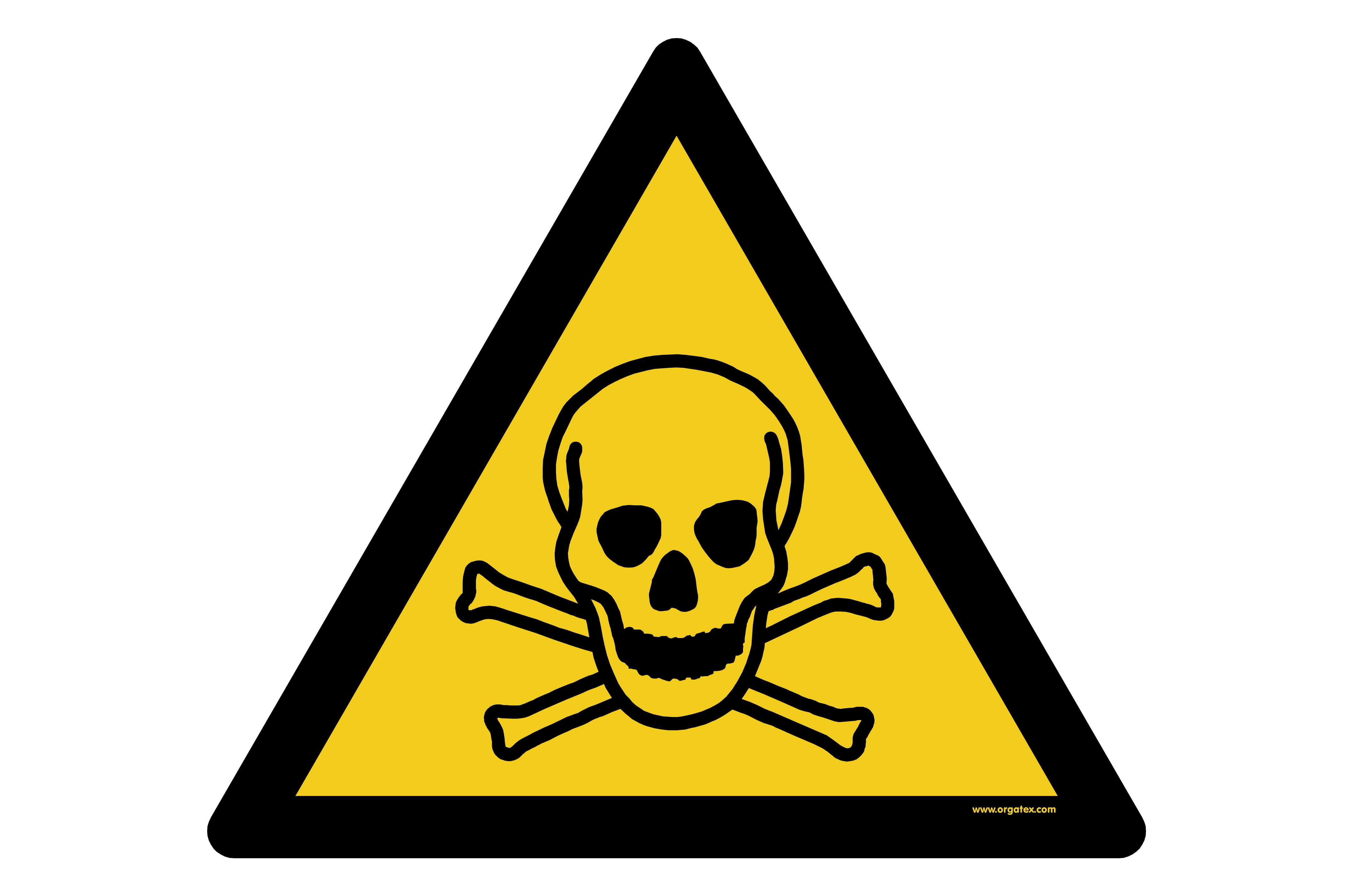 "Floor symbol ""Warning of toxic substances"""