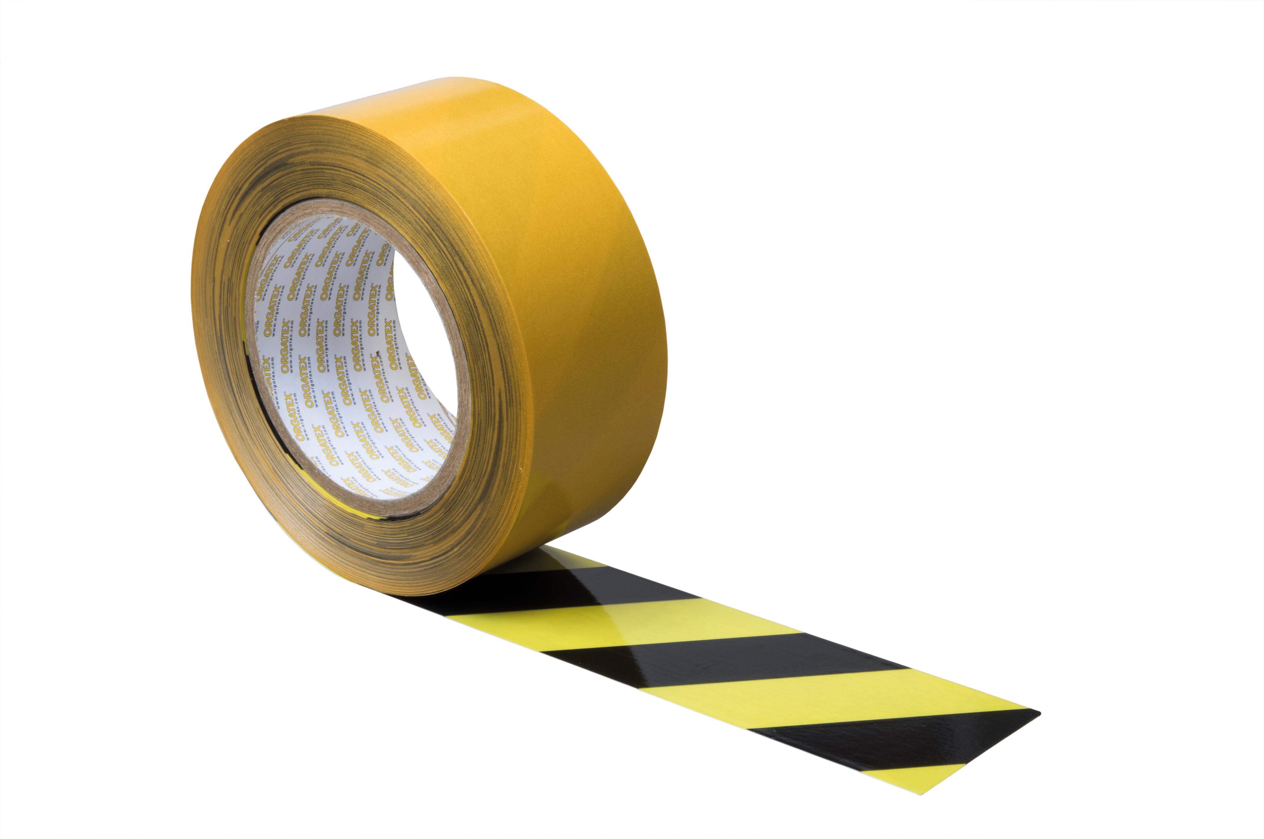 Bodenmarkierung Schwarz-Gelb schraffiert
