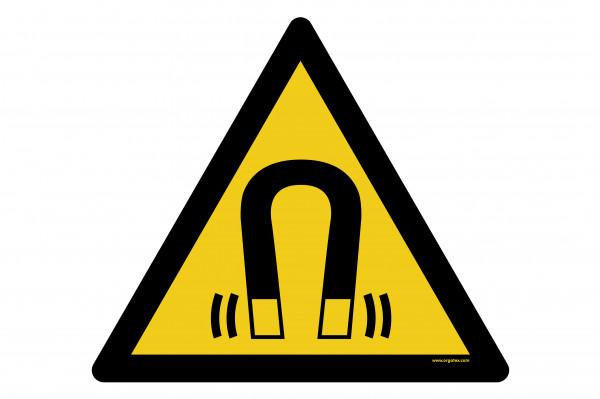"""Señal para pisos """"Advertencia de campo magnético"""""""