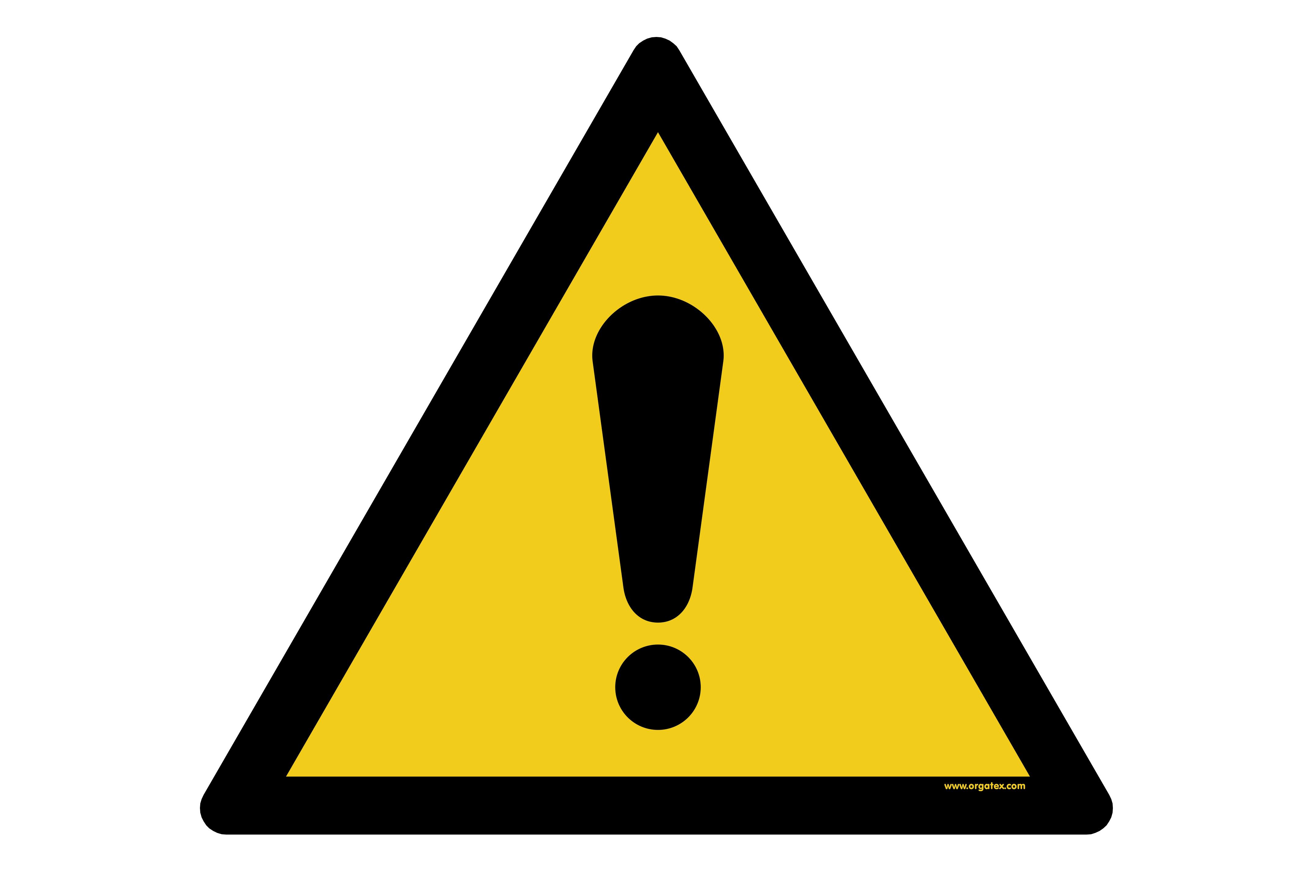 """Floor symbol """"General warning sign"""""""