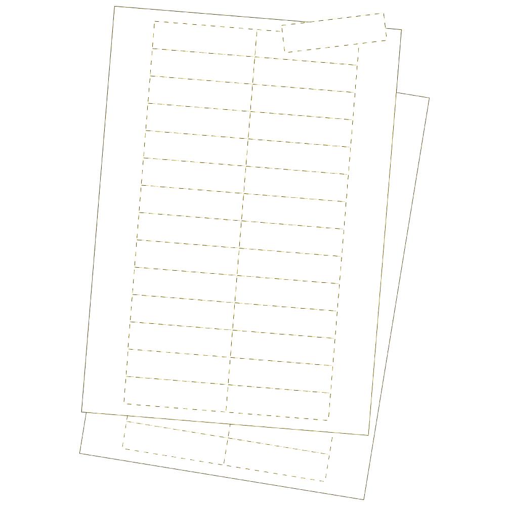 Kartoneinlagen, weiss 25 x 75 mm | Orgatex Visual Management ...