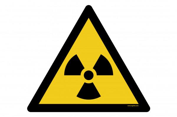 """Bodenkennzeichnungsschild """"Warnung vor radioaktiven Stoffen oder ionisierender Strahlung"""""""