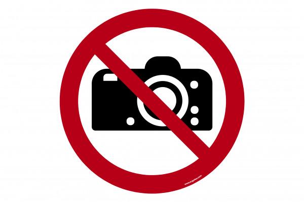 """Señal para pisos """"No fotografiar"""""""