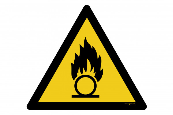"Floor symbol ""Warning of oxidizing substances"""