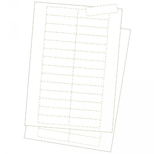 Kartoneinlagen, weiss 20 x 75 mm