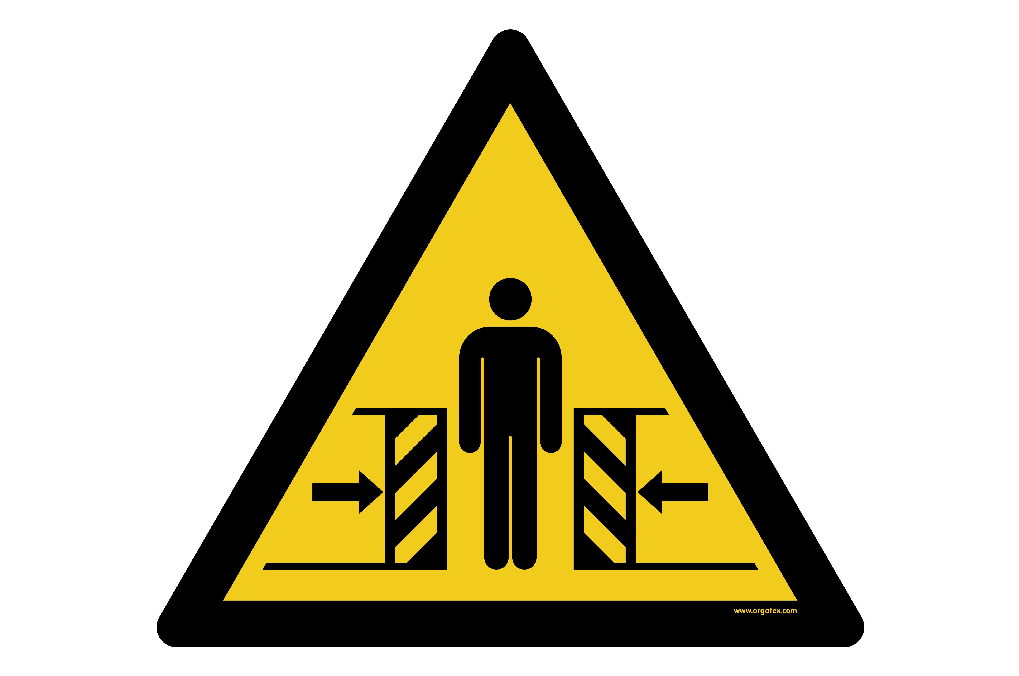 """Floor symbol """"Warning of crushing hazard"""""""