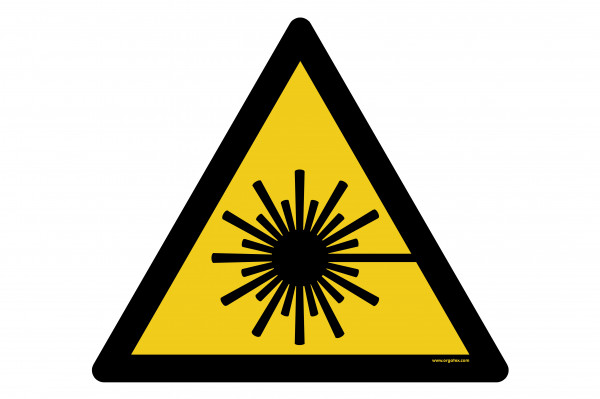 "Floor symbol ""Warning of laser beam"""