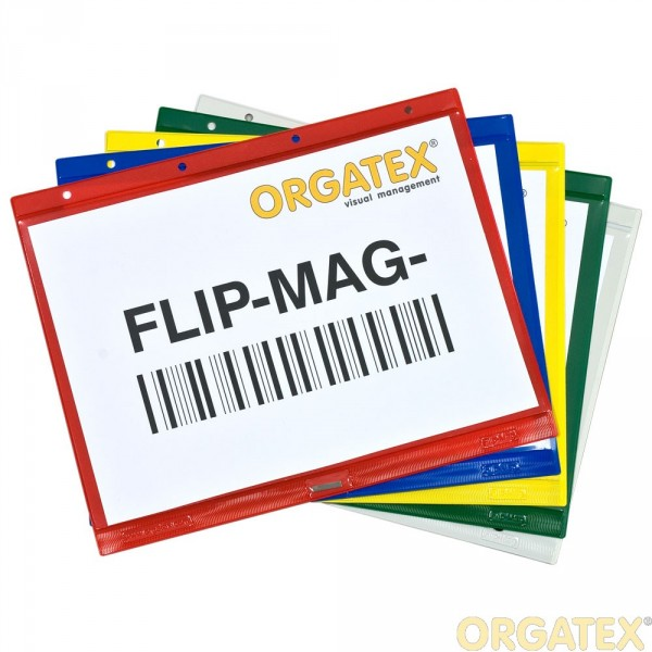 FLIP-MAG Hüllen mit Heftrand und Neodymmagneten
